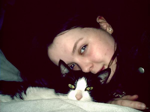 Me at 15 in the Early days of Natalie Elizabeth, also my wonderful Kitty Sammy.